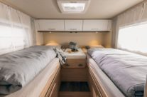 zadná spálňa s kombinovaným lôžkom